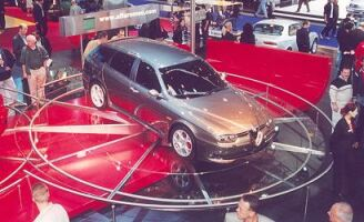 the Alfa Romeo Sportwagon GTA makes its public debut at the Frankfurt Motor Show