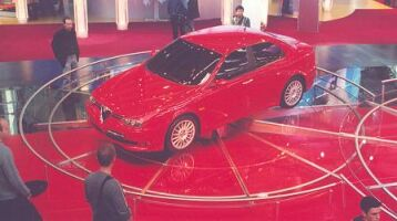 the Alfa Romeo GTA makes its public debut at the Frankfurt Motor Show
