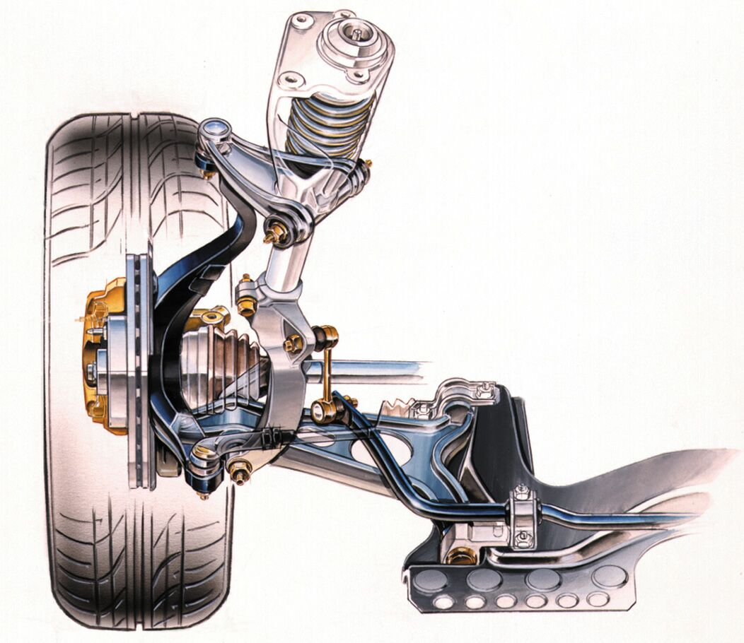 Alfa Romeo 156 2003 Restyling Rear Axle Click Here To View This Image Of The 156s Front Suspension