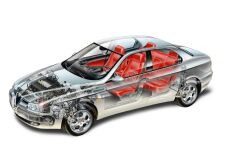 click here to view this Alfa Romeo 156 cutaway image in high resolution