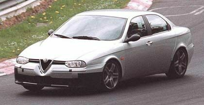 pre-production Alfa Romeo 156 GTA prototype testing