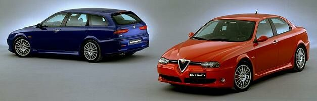 first officially released image of the Alfa Romeo 156 GTA and Sportwagon GTA
