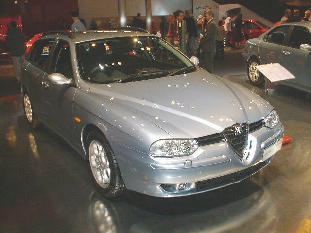 ... Alfa Romeo 156 1.9 JTD Sportwagon at the 2002 Birmingham Motor Show