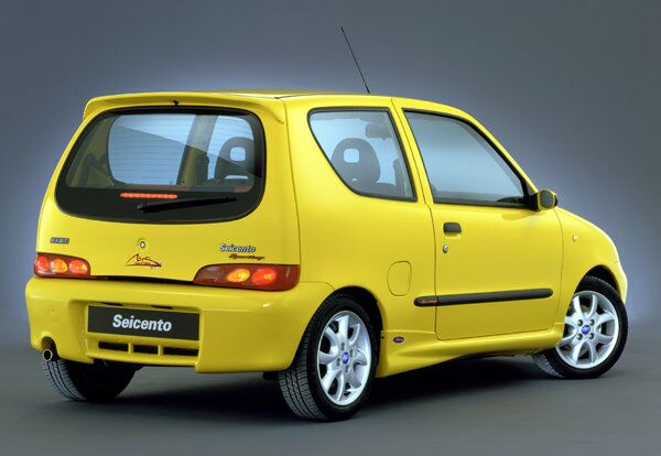 Fiat Seicento Sporting Yellow Fiat Seicento Sporting Limited