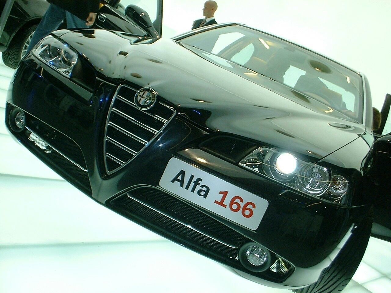 Click here to view this image of the facelifted Alfa Romeo 166 at Frankfurt  in high ...
