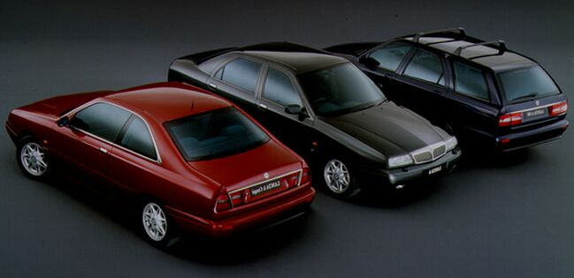the Lancia Kappa range including saloon, estate & coupe